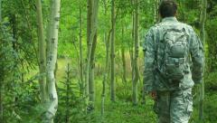 Survival training train soldier 1 Stock Footage