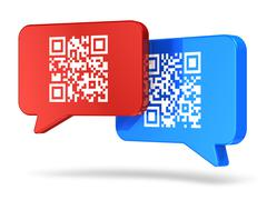 QR code communication concept - stock illustration