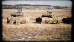 409 - US tank crews ready for Army maneuvers - vintage film home movie Stock Footage