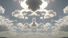Clouds symetric timelapse mirrored Stock Footage
