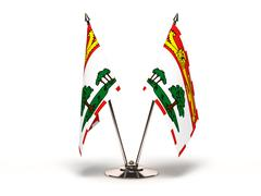 miniature flag of prince edward island - stock illustration