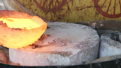 Brass foundry Stock Footage