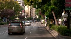 downtown Marbella Avenida, Ramón y Cajal - stock footage