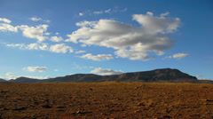 Timelapse clouds over the Flinders Ranges in Australia Stock Footage