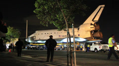 Space Shuttle Endeavour Move in L.A. Stock Footage
