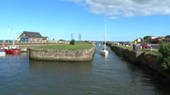 Courtown Harbour 1 Stock Footage