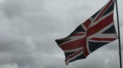 United Kingdom national flag Stock Footage