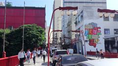 Street of Liberty -Sao Paulo 2013 Stock Footage
