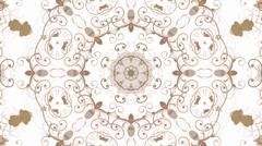 flower pattern background,Oriental style. - stock footage