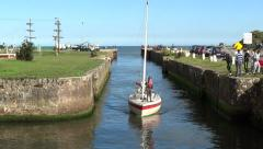 Courtown Harbour 4 Stock Footage
