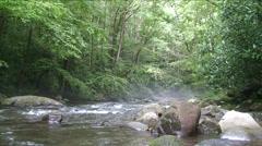 Misty Mountain Stream - stock footage