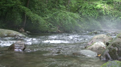 Misty Mountain River - stock footage