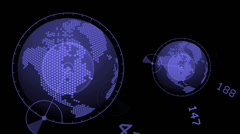 global GPS,earth map,city map,military Radar GPS screen display,navigation. - stock footage