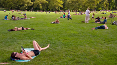 Central Park in the Summer Stock Footage