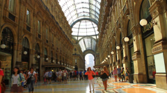 Italy Milan galleria vittorio emanuele Shooting photo Stock Footage