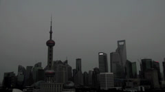 Long day to night time-lapse of shanghai in China - stock footage