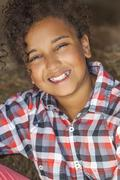 Happy mixed race african american girl child Stock Photos