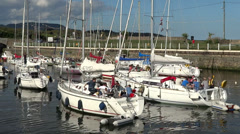 Courtown Harbour 7 Stock Footage