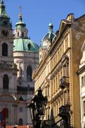 historic architecture in prague - stock photo