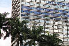 Building in downtown sao paulo. Stock Photos