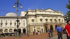 Italy Milan piazza della scala Stock Footage