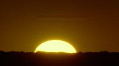 Southwestern scene of sun setting - stock footage