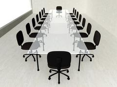 Concrete meeting room Stock Illustration