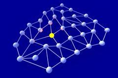 network node - stock illustration