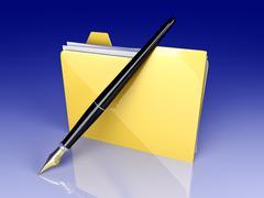 document folder. - stock illustration