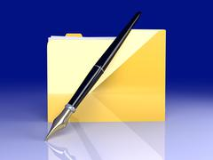 Document folder. Stock Illustration