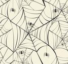 Happy halloween spider webs seamless pattern background eps10 file. Stock Illustration