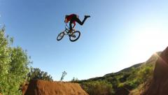Extreme BMX Tail Whip - stock footage