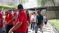 Manifestation in Sao Paulo Brazil Stock Footage