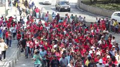 Manifestation in Sao Paulo Brazil Stock Footage