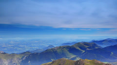 Pyrenees mountains panorama. - stock footage