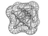 Stock Illustration of silver metal (ag), crystal structure.