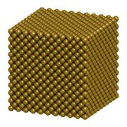 Gold (au) metal, crystal structure. Stock Illustration