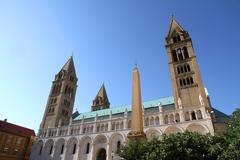 cathedral in pecs - stock photo