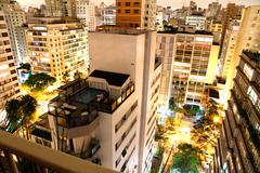 Sao paulo at night. Stock Photos