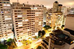 Sao paulo at night.. Stock Photos