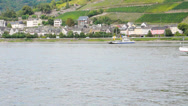 Stock Video Footage of Cruise Boat on the Rhine