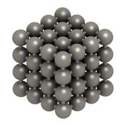 Iron (fe, ferrite) metal, crystal structure. Stock Illustration