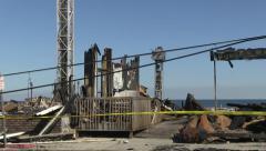 Seaside Park Boardwalk Fire 1 Stock Footage