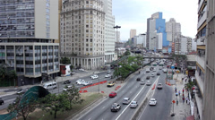 Street of Sao Paulo City - Santa Efigenia Stock Footage