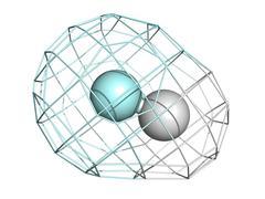 Hydrogen fluoride (hf) molecule, chemical structure. Stock Illustration