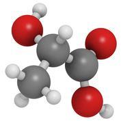 lactic acid (milk acid, l-lactic acid) molecule, chemical structure. - stock illustration