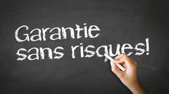 Risk free guarantee (in french) Stock Photos