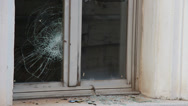 Stock Video Footage of Broken windows by vandals 1