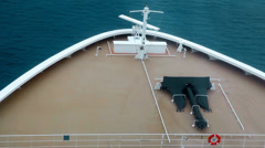 Communication and safety equipment on the ship Stock Footage