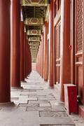 Taimiao ancestral temple colonnade Stock Photos